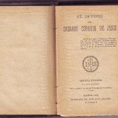 Libros antiguos: EL DEVOTO DEL SAGRADO CORAZÓN DE JESÚS 1889. Lote 60631811
