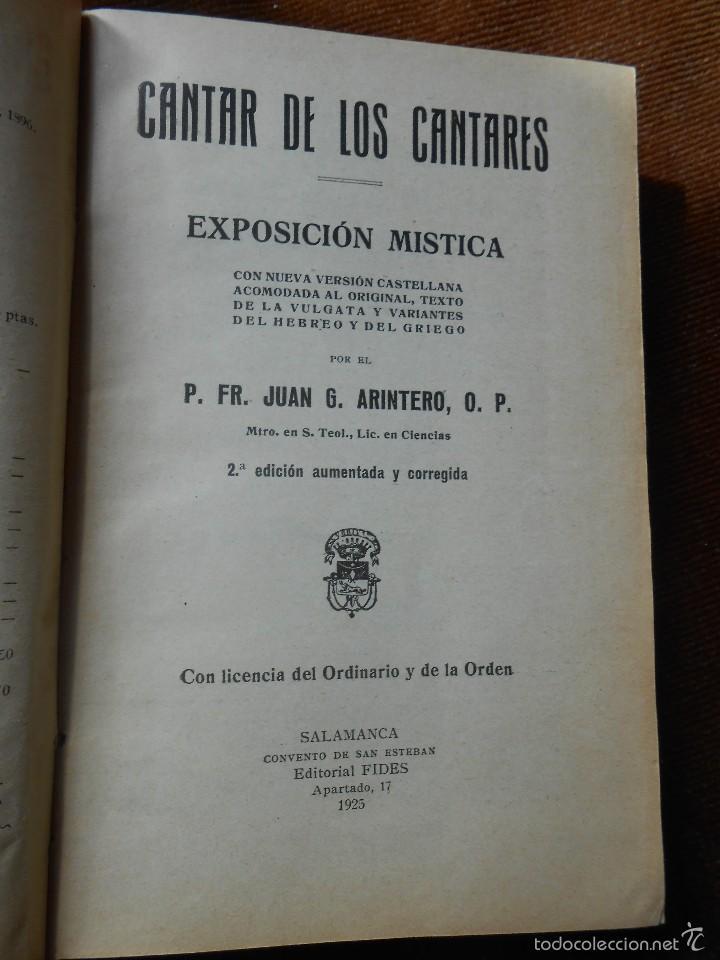 Libros antiguos: CANTAR DE LOS CANTARES -1925 2ª ed. Aumentada y Corregida - Foto 3 - 60927883