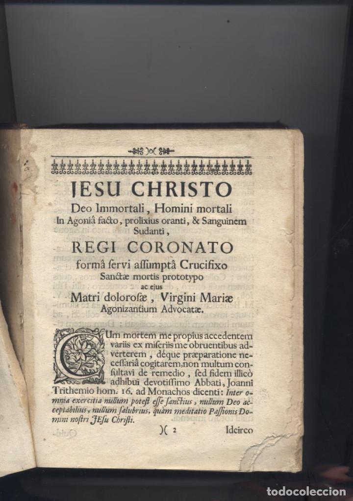 Libros antiguos: ANTIGUO LIBRO RELIGIOSO EN ALEMAN-AÑO 1726-P.F.LUCA ROTTENFELFENFI-GETHSEAMANI - Foto 2 - 62732160