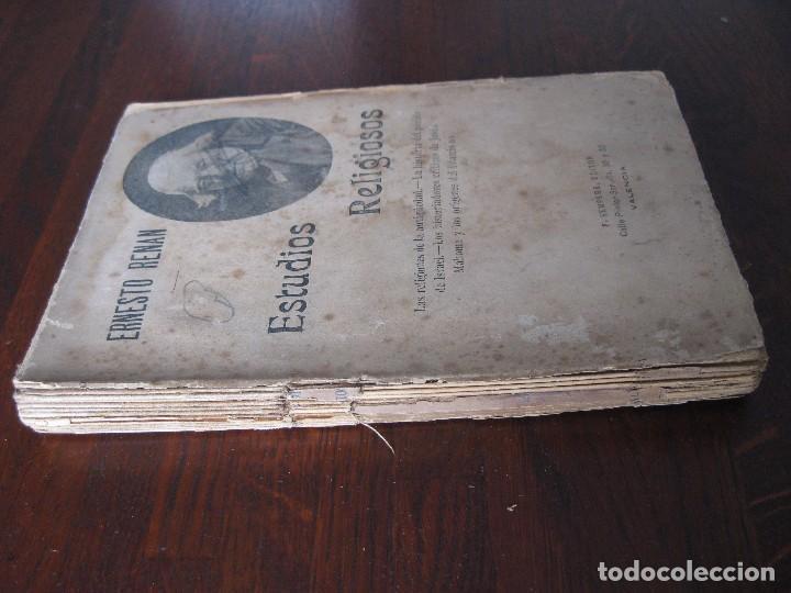 Libros antiguos: Estudios de historia religiosos Ernesto Renan 1901 - Foto 2 - 62882792