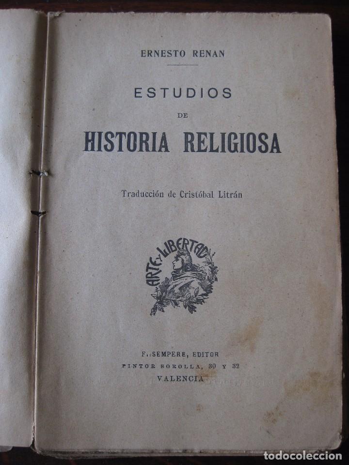 Libros antiguos: Estudios de historia religiosos Ernesto Renan 1901 - Foto 4 - 62882792