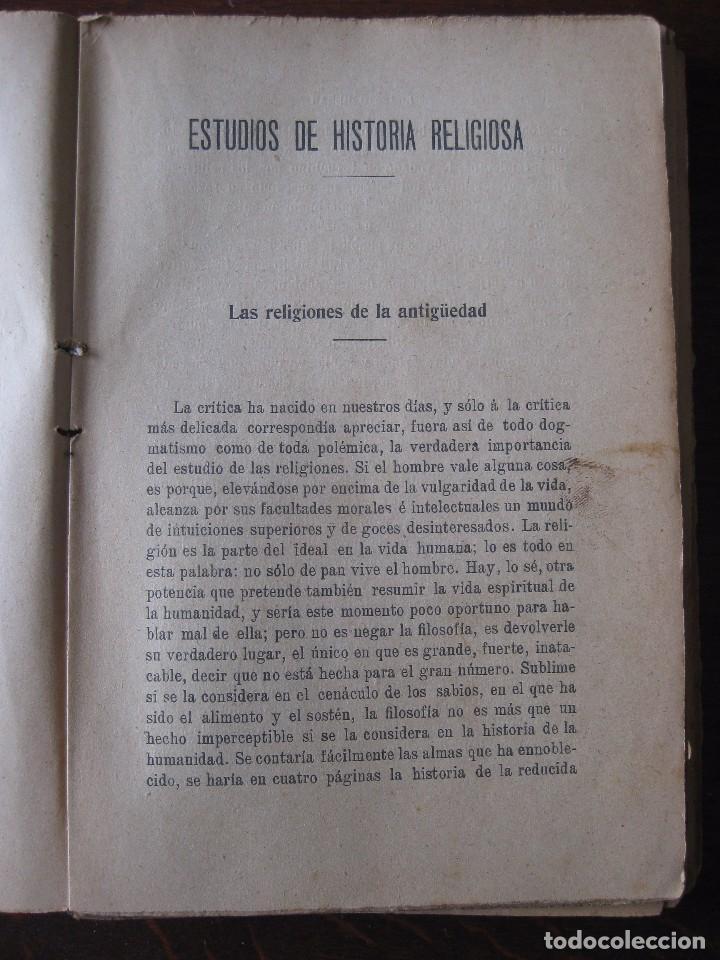 Libros antiguos: Estudios de historia religiosos Ernesto Renan 1901 - Foto 5 - 62882792