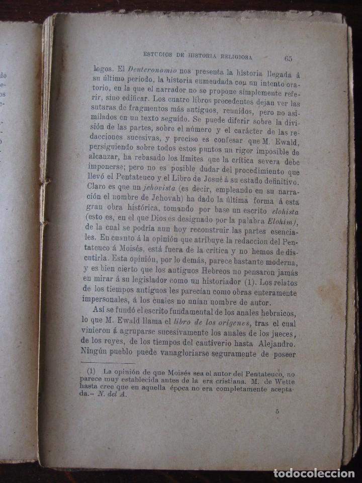 Libros antiguos: Estudios de historia religiosos Ernesto Renan 1901 - Foto 6 - 62882792