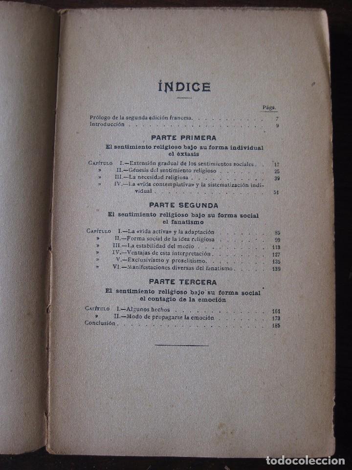 Libros antiguos: Enfermedades del pensamiento. Por E. Murisier. Traducido por Florencio Sebastián Yarza. - Foto 4 - 62893696
