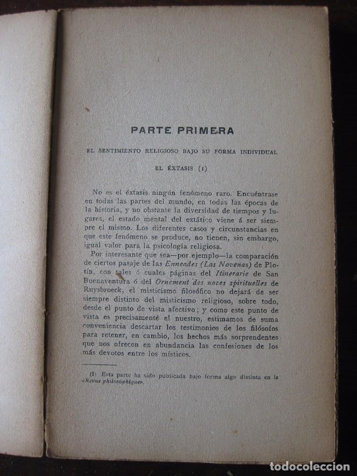 Libros antiguos: Enfermedades del pensamiento. Por E. Murisier. Traducido por Florencio Sebastián Yarza. - Foto 5 - 62893696