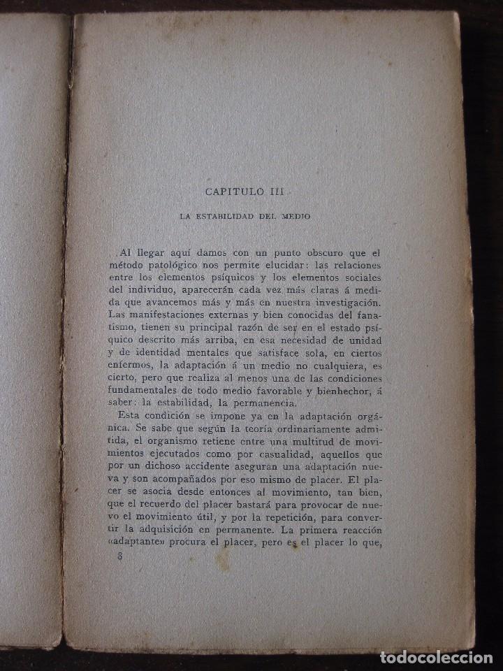 Libros antiguos: Enfermedades del pensamiento. Por E. Murisier. Traducido por Florencio Sebastián Yarza. - Foto 7 - 62893696