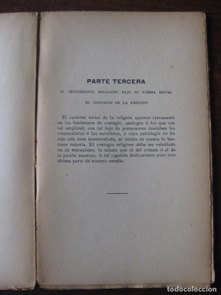 Libros antiguos: Enfermedades del pensamiento. Por E. Murisier. Traducido por Florencio Sebastián Yarza. - Foto 10 - 62893696
