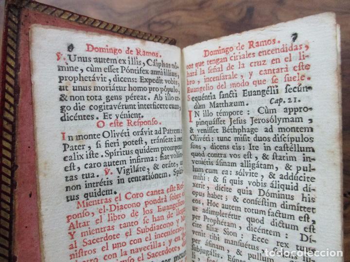 Libros antiguos: OFICIO DE LA SEMANA SANTA SEGUN EL MISSAL Y BREVIARIO ROMANOS. 1748. - Foto 4 - 62968196