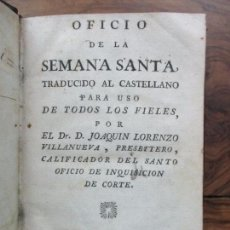 Libros antiguos: OFICIO DE LA SEMANA SANTA. C. 1800.. Lote 63089968