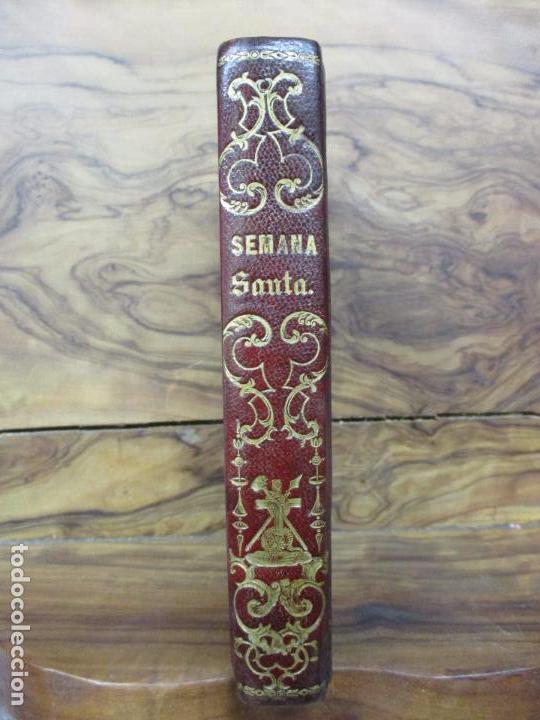 Libros antiguos: OFICIO DE LA SEMANA SANTA. C. 1800. - Foto 2 - 63089968