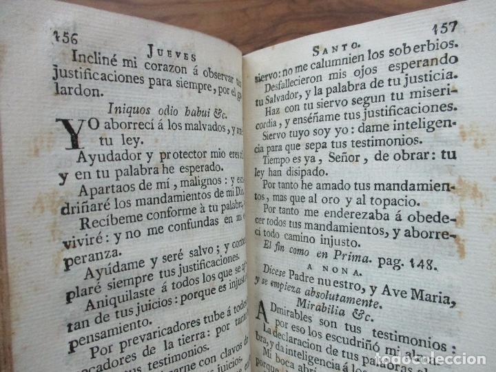 Libros antiguos: OFICIO DE LA SEMANA SANTA. C. 1800. - Foto 5 - 63089968