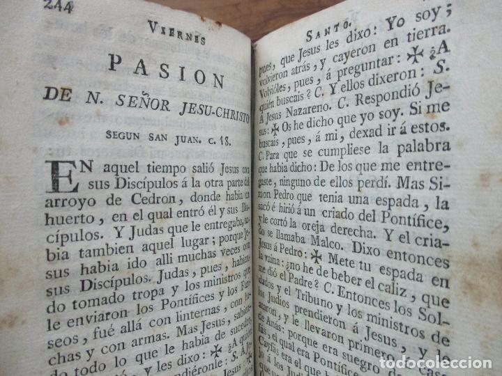 Libros antiguos: OFICIO DE LA SEMANA SANTA. C. 1800. - Foto 6 - 63089968