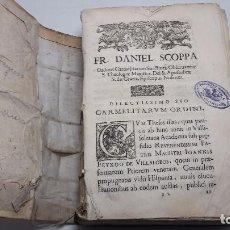 Libros antiguos: CARMELITARUM ORDINI ,HISTORICO-SACRA, ET THEOLOGICO DOGMATICA DISSERTATIO DE VERA ORIGINE, &. Lote 62592192