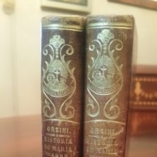Libros antiguos: HISTORIA DE MARÍA, MADRE DE DIOS. 1857 - 2 VOLÚMENES PIEL Y FILIGRANAS DE ORO EN EL LOMO.. Lote 63400096