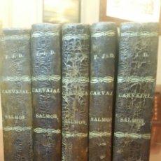 Libros antiguos: SALMOS EN VERSO Y PROSA. EDICIÓN 1819 (S. XIX). COMPLETO. 5 TOMOS. (LOMO DE PIEL). 201 AÑOS.. Lote 63425107