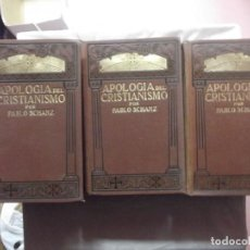 Libros antiguos: APOLOGIA DEL CRISTIANISMO DE PABLO SCHANZ 6 TOMOS. Lote 63474356