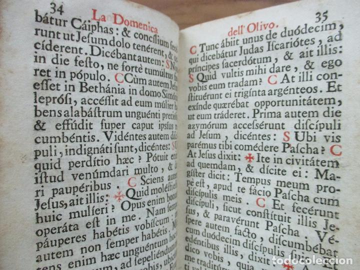 Libros antiguos: FICIUM HEBDOMADAE SANCTAE JUXTA FORMAM MISSALIS ... HIERONYMUM JOANNINUM. 1720. - Foto 5 - 63528860