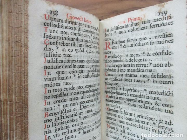Libros antiguos: FICIUM HEBDOMADAE SANCTAE JUXTA FORMAM MISSALIS ... HIERONYMUM JOANNINUM. 1720. - Foto 6 - 63528860