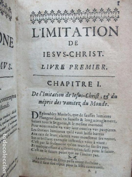 Libros antiguos: LIMITATION DE IESUS-CHRIST. TRADUITE EN VERS FRANÇOIS. CORNEILLE. C. 1651. ED. RARA. BILINGÜE. - Foto 4 - 63565496