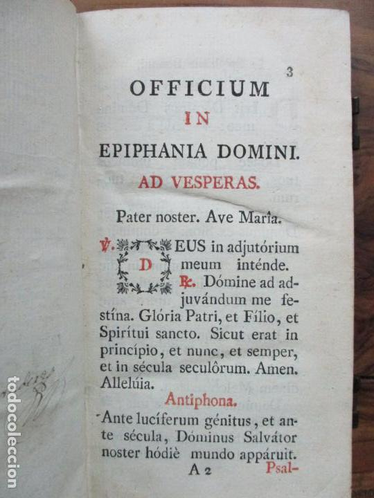 Libros antiguos: OFFICIUM IN EPIPHANIA DOMINI, ET PER TOTAM OCTAVAM: JUXTA MISSALE ET BREVIAR. ROMAN...1804. - Foto 5 - 63566724