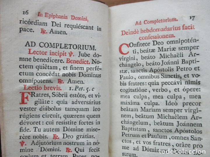Libros antiguos: OFFICIUM IN EPIPHANIA DOMINI, ET PER TOTAM OCTAVAM: JUXTA MISSALE ET BREVIAR. ROMAN...1804. - Foto 6 - 63566724