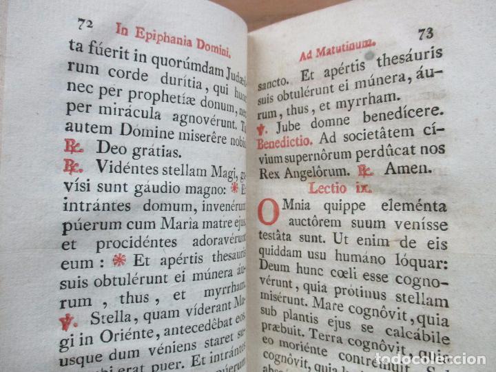 Libros antiguos: OFFICIUM IN EPIPHANIA DOMINI, ET PER TOTAM OCTAVAM: JUXTA MISSALE ET BREVIAR. ROMAN...1804. - Foto 7 - 63566724