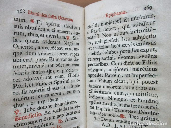 Libros antiguos: OFFICIUM IN EPIPHANIA DOMINI, ET PER TOTAM OCTAVAM: JUXTA MISSALE ET BREVIAR. ROMAN...1804. - Foto 8 - 63566724
