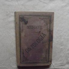 Libros antiguos: ELEMENTOS DE ONTOLOGIA DE JOSE MENDIVE. Lote 63577756