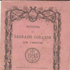Libros antiguos: NOVENA AL SAGRADO CORAZON DE JESUS. Lote 64419659