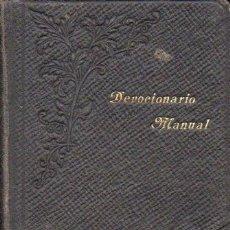 Libros antiguos: DEVOCIONARIO MANUAL DE LA COMPAÑÍA DE JESÚS (BILBAO, 1902). Lote 64921523