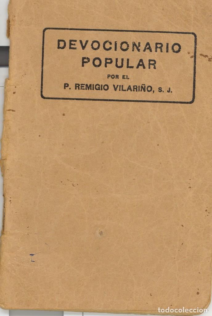 DEVOCIONARIO POPULAR. AÑOS 30 (Libros Antiguos, Raros y Curiosos - Religión)
