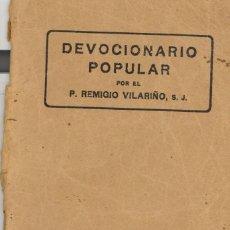 Libros antiguos: DEVOCIONARIO POPULAR. AÑOS 30. Lote 65736342