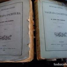 Libros antiguos: DICCIONARIO ESPAÑOL DE LA SAGRADA ESCRITURA. MADRID, 1862. Lote 65882466