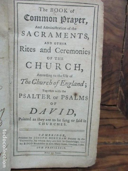 THE BOOK OF COMMON PRAYER..1762. 3 OBRAS EN INGLÉS EN 1 VOL. MIRAR DESCRIPCIÓN. S.XVIII. (Libros Antiguos, Raros y Curiosos - Religión)