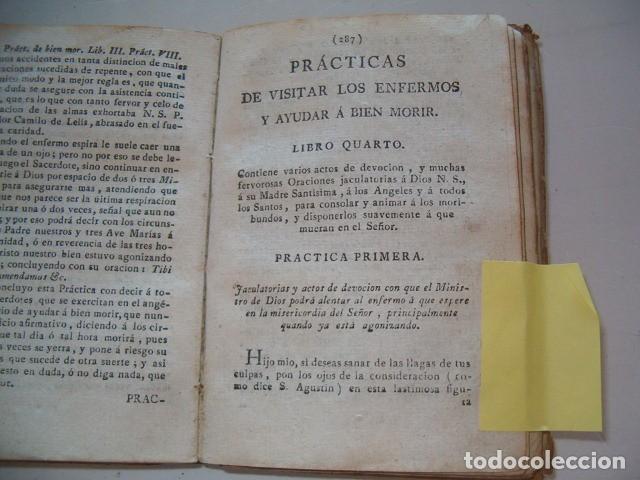 Libros antiguos: Prácticas de visitar los enfermos y ayudar á bien morir. CUATRO TOMOS en un solo volumen. RM77702. - Foto 5 - 68559821