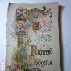 Libros antiguos: NOVENA EN HONOR DE NTRA. SRA DEL PERPETUO SOCORRO. . Lote 68998925