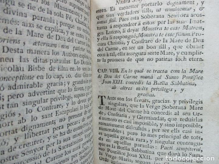 Libros antiguos: LLIBRE DELS MIRACLES DE NRA. SRA. DEL CARME... JOAN ANGEL SERRA. 1701. - Foto 4 - 69269901