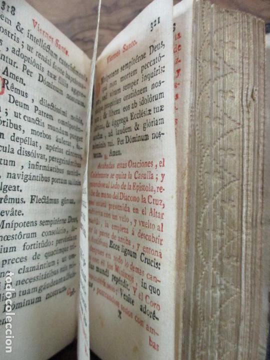 Libros antiguos: OFICIO DE LA SEMANA SANTA SEGUN EL MISAL, Y BREVIARIO ROMANOS. 1794. - Foto 6 - 69389549