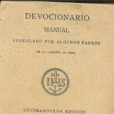 Libros antiguos: DEVOCIONARIO MANUAL.. Lote 69650641