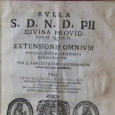 Libros antiguos: 'BULLA S.D.N.D.PII DIVINA PRVID.PAPAE QUINTI..' PERGAMINO. ROMA 1567. ORDEN CISTERCIENSE.14 H.VITELA. Lote 70157121