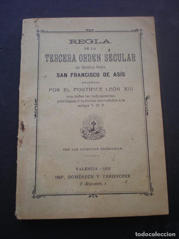 LIBRO O FOLLETO, REGLA DE LA TERCERA ORDEN SECULAR DE SAN FRANCISCO DE ASIS, 1913 (Libros Antiguos, Raros y Curiosos - Religión)