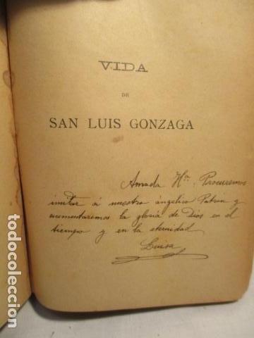 Libros antiguos: VIDA DE SAN LUIS GONZAGA, FEDERICO CERVÓS - TOMO 4 - VER FOTOS - Foto 9 - 70336837