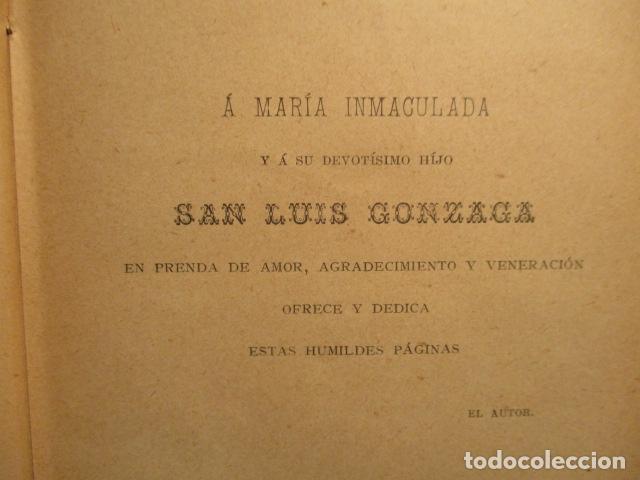 Libros antiguos: VIDA DE SAN LUIS GONZAGA, FEDERICO CERVÓS - TOMO 4 - VER FOTOS - Foto 13 - 70336837