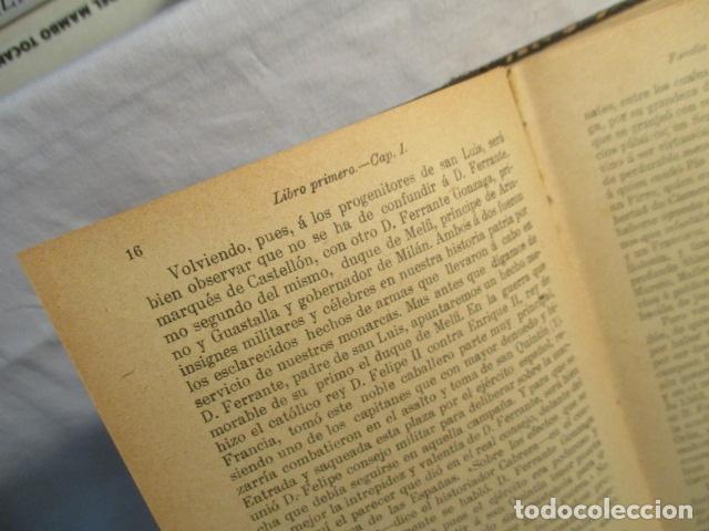 Libros antiguos: VIDA DE SAN LUIS GONZAGA, FEDERICO CERVÓS - TOMO 4 - VER FOTOS - Foto 16 - 70336837