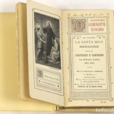 Alte Bücher - DMC-12 DEVOCIONARIO EN HUESO. NOVISIMO DIAMANTE DIVINO. J. STEINBRENER. 1906. - 57342284