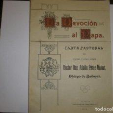 Libros antiguos: LA DEVOCION AL PAPA ADOLFO PEREZ MUÑOZ 1914 BADAJOZ. Lote 70480725