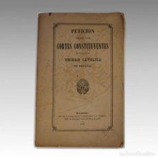 Libros antiguos: UNIDAD CATOLICA EN ESPAÑA (1869). Lote 54241021