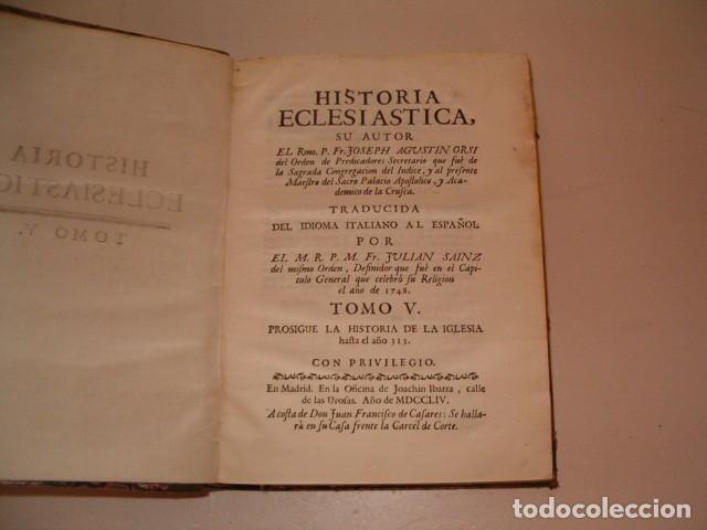 Libros antiguos: Historia Eclesiastica: Tomo V: La Historia de la Iglesia hasta el año 313. RM78134 - Foto 2 - 71231315