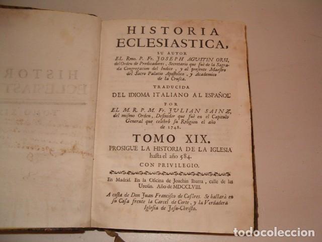 Libros antiguos: Historia Eclesiastica: Tomo XIX: La Historia de la Iglesia hasta el año 584. RM78146. - Foto 2 - 71232563