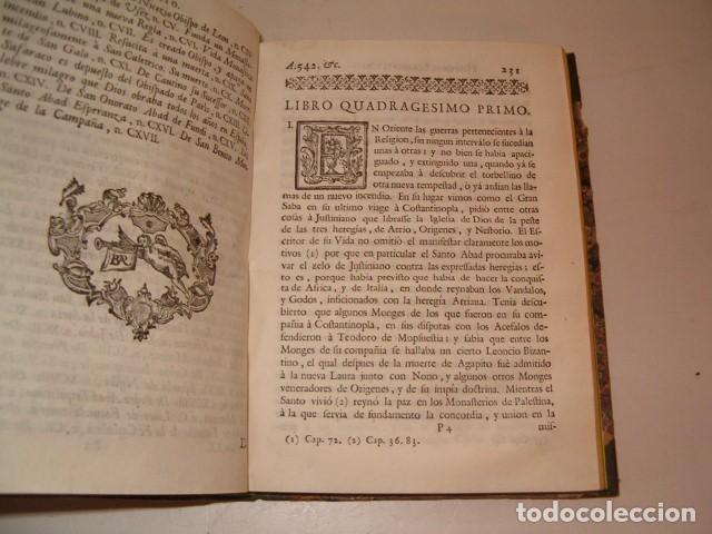 Libros antiguos: Historia Eclesiastica: Tomo XX: La Historia de la Iglesia hasta el año 554. RM78147. - Foto 4 - 71232735